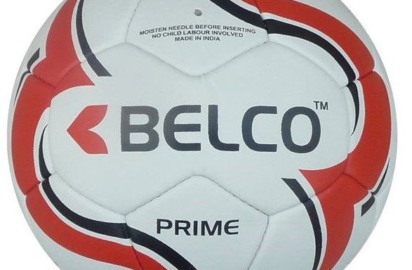 Soccerball size 5 Prime match quality (Red/Black)